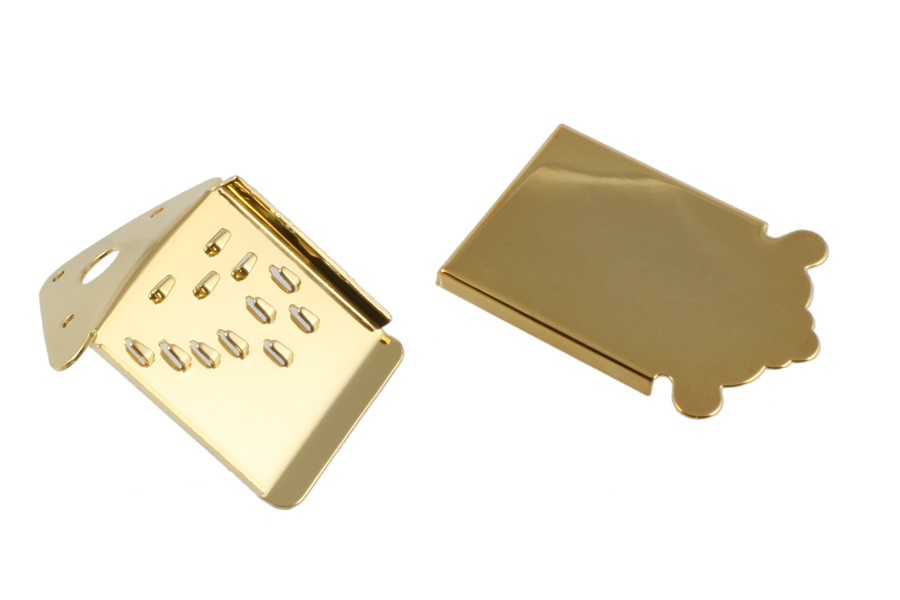 MT-0987-002 Mandolin Tailpiece Gold