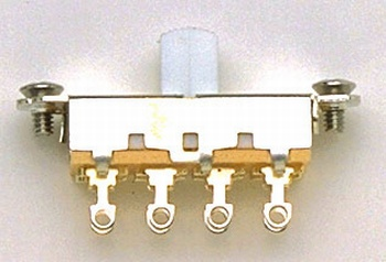 EP-0261-025 Switchcraft White On-Off-On Slide Switch