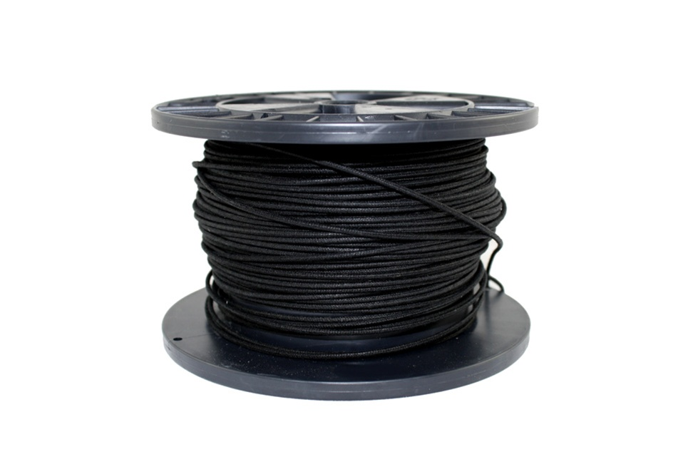 GW-0820-B23 Bulk Roll of Black Cloth Wire