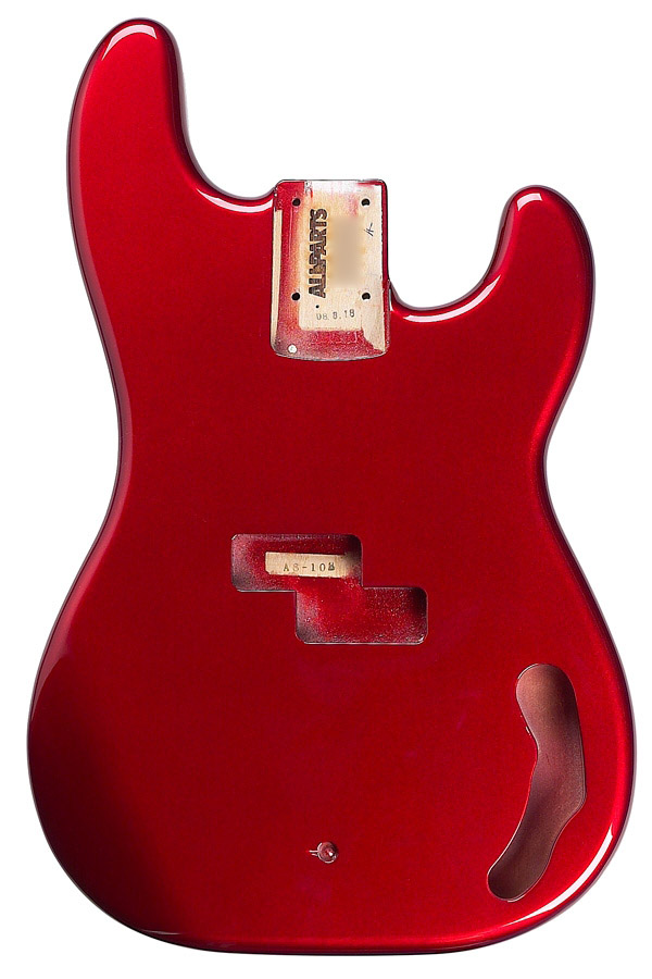 PBF-CAR Precision Bass® Finished Candy Apple Red Body