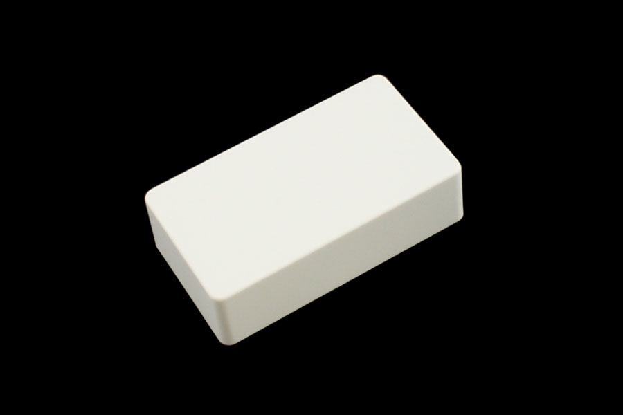 PC-0303-025 Humbucking Cover Set No Holes White Plastic