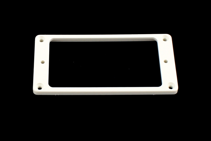 PC-0743-025 Humbucking Ring Set Flat Slanted White