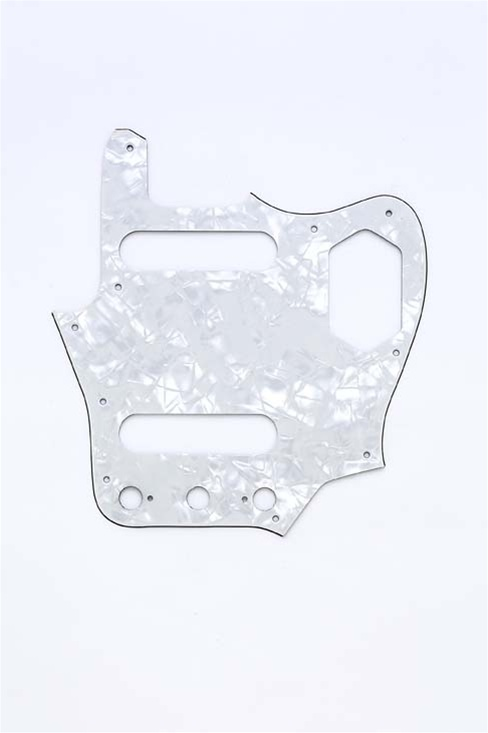 PG-0580-055 White Pearloid Jaguar® Pickguard