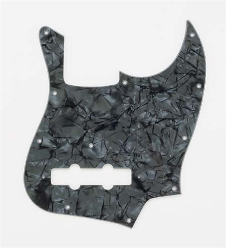 PG-0755-052 Dark Black Pearloid Jazz Bass® Pickguard