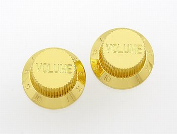 PK-0154-002 Gold Volume Knobs , 2pcs