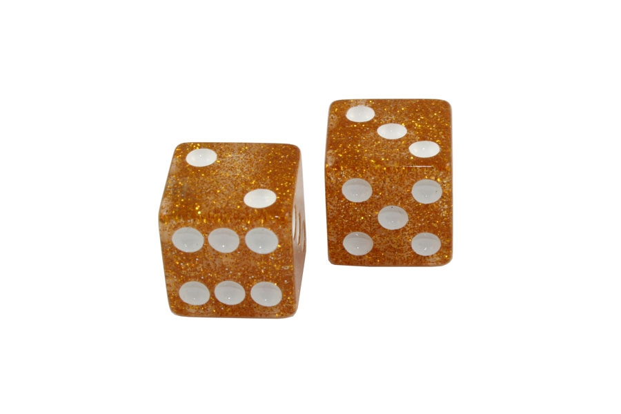 PK-3250-062 Gold Glitter Dice Knobs