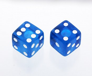 PK-3250-068 Blue Dice Knobs