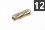 GS-0049-B01 Bulk Pack of 100 Nickel Metric Guitar Bridge Height Screws