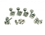 KFTL_3805CL KLUSON® REVOLUTION F-MOUNT LOCKING  TUNERS for FENDER -  - 6 IN LINE - CHROME