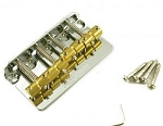 WBBCCR WILKINSON® BASS BRIDGE CHROME with BRASS saddles