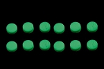 LT-5494-000  Glow-in-the-dark 6.35 mm Fingerboard Dots