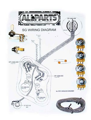 wiring kit for sg guitars. Black Bedroom Furniture Sets. Home Design Ideas
