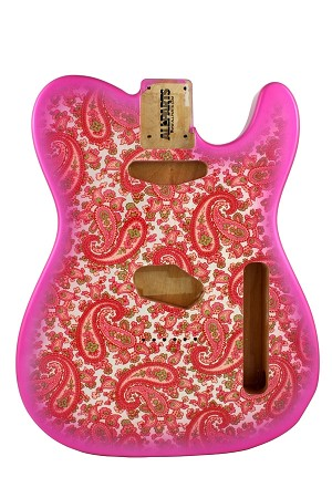 TBF-PKP Pink Paisley Finished Telecaster® Body
