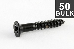 GS-0063-B03 Bulk Pack of 50 Black Bridge Mounting Screws