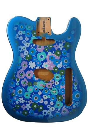 TBF-BF Blue Flower Finished Telecaster® Body
